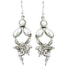 Clearance Sale- arl 925 sterling silver angel wings fairy earrings d9971