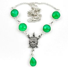 925 sterling silver natural green chalcedony necklace jewelry d10330