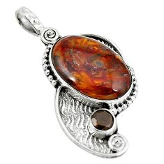 Natural brown pietersite (african) 925 sterling silver pendant jewelry d10106
