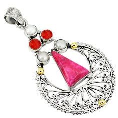 Clearance Sale- sterling silver 14k gold pendant d11292