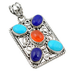 Clearance Sale- ian (carnelian) lapis pendant jewelry d11364