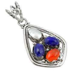 Clearance Sale- ian) white pearl 925 silver pendant d11367