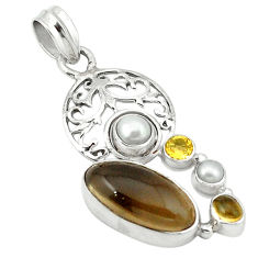 z citrine pearl 925 sterling silver pendant jewelry d1140
