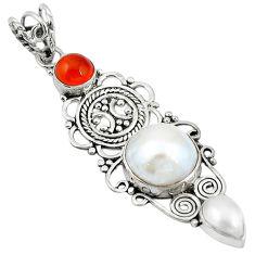 Clearance Sale- nelian (carnelian) 925 silver pendant d11673