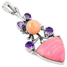 Clearance Sale-  opal purple amethyst pendant jewelry d11904