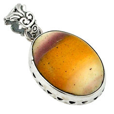 Clearance Sale- Natural brown mookaite 925 sterling silver pendant jewelry d1194