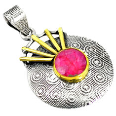 Clearance Sale- lver two tone pendant jewelry d12212