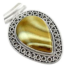 Clearance Sale- pear 925 sterling silver pendant d14634