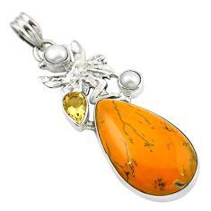Clearance Sale- (merlinite) angel wings fairy pendant d14800