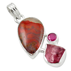 Clearance Sale- exican laguna lace agate pendant jewelry d14805