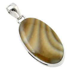 Clearance Sale-  striped flint ohio oval pendant d14880