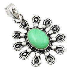 Clearance Sale- Natural green variscite 925 sterling silver pendant jewelry d14918