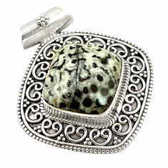 Clearance Sale- 925 silver natural black stingray coral from alaska pendant jewelry d17540