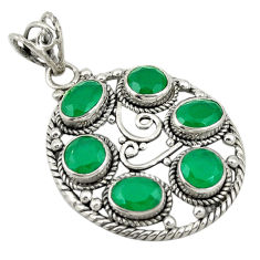 925 sterling silver green emerald quartz oval pendant jewelry d19286