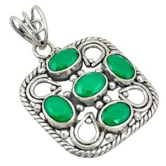 925 sterling silver green emerald quartz oval pendant jewelry d19292