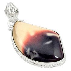 Natural pink porcelain jasper (sci fi) 925 silver pendant jewelry d19383