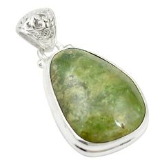 925 sterling silver natural green aventurine (brazil) pendant jewelry d19551