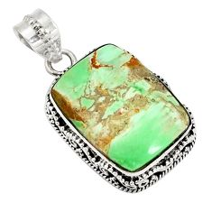 Natural green variscite 925 sterling silver pendant jewelry d20982