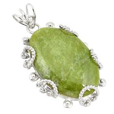 925 sterling silver natural green aventurine (brazil) pendant jewelry d21158