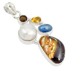 ulder opal pearl 925 sterling silver pendant d21535