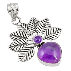 Clearance Sale- Natural purple amethyst 925 sterling silver pendant jewelry d22505