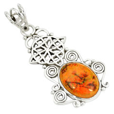 Clearance Sale- Multi color sterling opal 925 sterling silver pendant jewelry d23537
