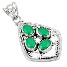 Green emerald quartz 925 sterling silver pendant jewelry d24265