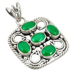 Clearance Sale- Green emerald quartz 925 sterling silver pendant jewelry d24319