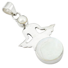 Natural blister pearl pearl 925 sterling silver pendant jewelry d25928