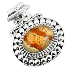 Natural red birds eye 925 sterling silver pendant jewelry d26501
