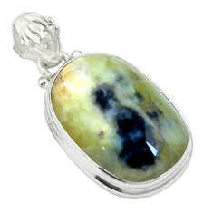 15.62cts natural yellow opal 925 sterling silver pendant jewelry d27016