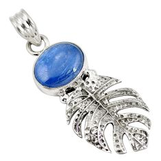 Natural blue kyanite 925 sterling silver pendant jewelry d28251