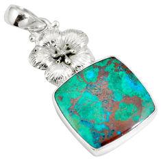 Clearance Sale- Sonora sunrise (cuprite chrysocolla) 925 sterling silver pendant d28268