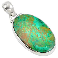 Clearance Sale- Sonora sunrise (cuprite chrysocolla) 925 sterling silver pendant d28272
