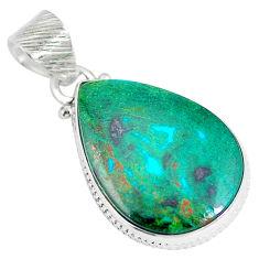 Clearance Sale- Sonora sunrise (cuprite chrysocolla) pear 925 sterling silver pendant d28275