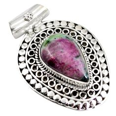 Clearance Sale- 925 sterling silver ruby zoisite pear shape pendant jewelry d28350