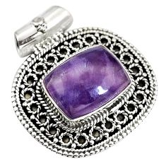 Natural multi color fluorite 925 sterling silver pendant jewelry d28353