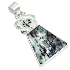 Clearance Sale- Natural bronze astrophyllite (star leaf) 925 silver pendant jewelry d28425