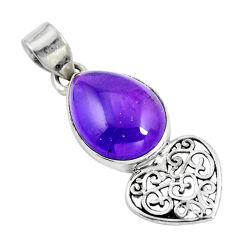 Clearance Sale- Natural purple amethyst 925 sterling silver pendant jewelry d28736