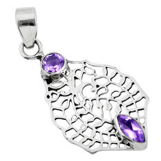 Clearance Sale- 925 sterling silver natural purple amethyst pendant jewelry d28737
