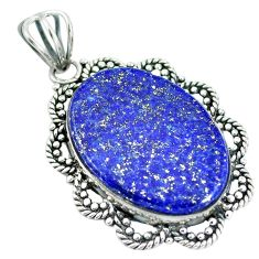 Clearance Sale- Natural blue lapis lazuli 925 sterling silver pendant jewelry d28788