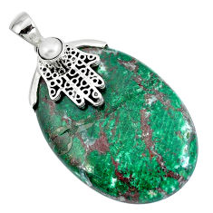 Clearance Sale- Sonora sunrise (cuprite chrysocolla) 925 silver hand of god hamsa pendant d30415