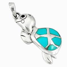 oise onyx enamel 925 silver turtle pendant jewelry d5163