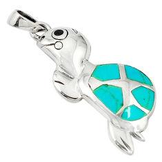 oise onyx enamel 925 silver turtle pendant jewelry d5171