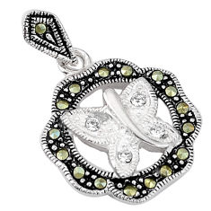Clearance Sale- paz marcasite 925 sterling silver pendant jewelry d5223