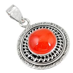 Clearance Sale- ornelian (carnelian) 925 sterling silver pendant jewelry d7253