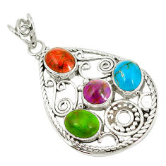 Clearance Sale- urquoise 925 silver pendant jewelry d7288