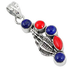 Clearance Sale- apis lazuli 925 sterling silver pendant jewelry d7312
