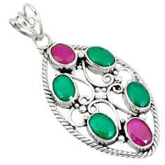 d ruby quartz oval pendant jewelry d7375