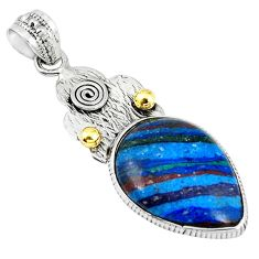 Clearance Sale- Natural multi color rainbow calsilica 925 sterling silver pendant jewelry d7483